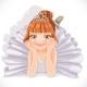 Ballerina Girl in White Dress Lie on Floor - GraphicRiver Item for Sale