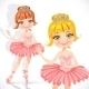 Ballerina Girl in Pink Dress and Tiara - GraphicRiver Item for Sale
