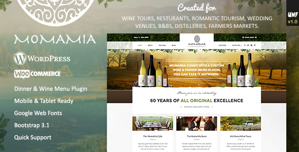 ThemeForest Momamia Restaurant & Winery WooCommerce WP Theme 8913562