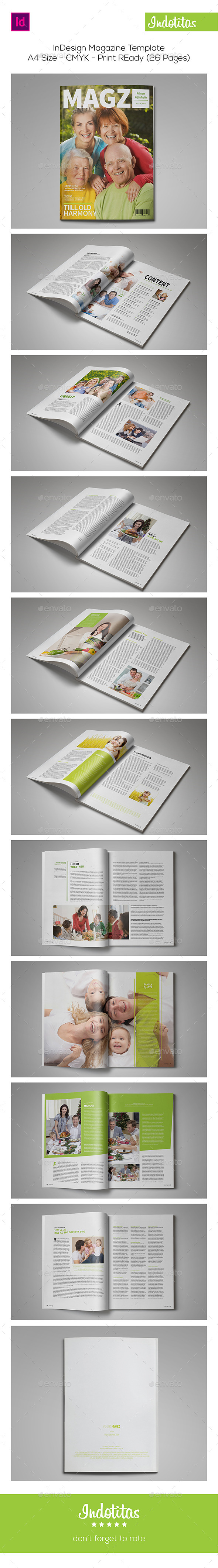 GraphicRiver InDesign Magazine Template 26 Pages 8913585