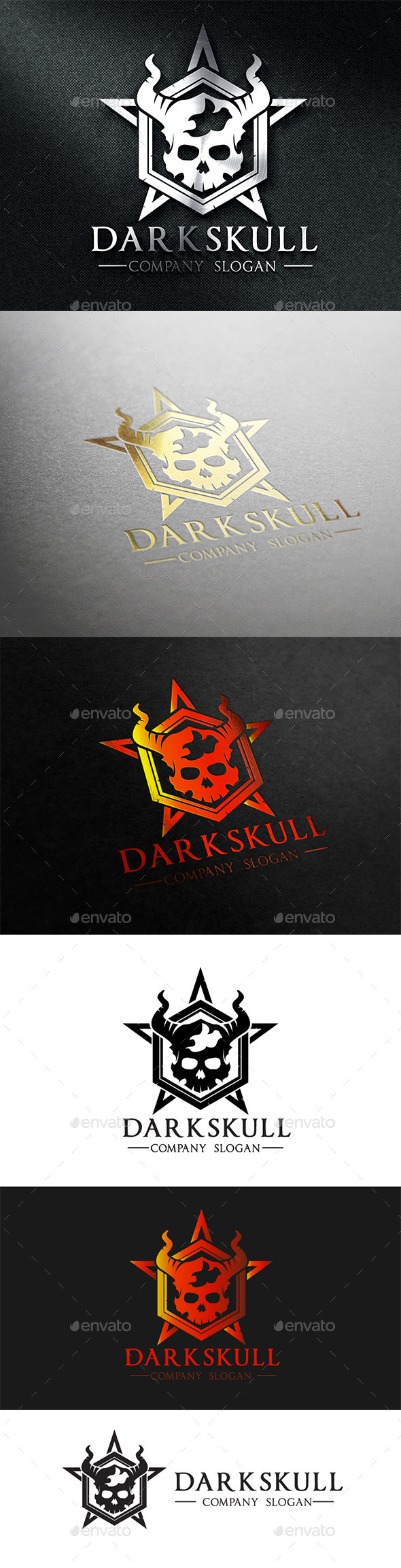 GraphicRiver Dark Skull 8913717