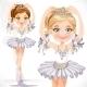 Ballerina Girl in White Dress - GraphicRiver Item for Sale