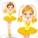 Ballerina Girl in Yellow Dress - GraphicRiver Item for Sale