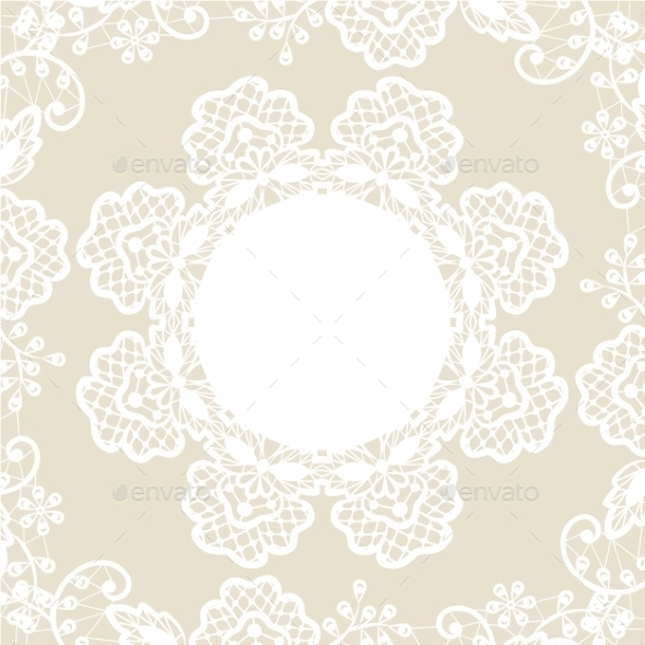 GraphicRiver White Lace on Beige Background 8913810
