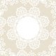 White Lace on Beige Background - GraphicRiver Item for Sale