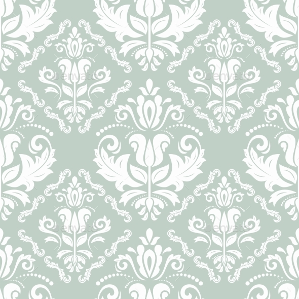 GraphicRiver Damask Seamless Vector Pattern Orient Background 8913993