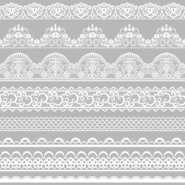 GraphicRiver Lace Borders 8914014
