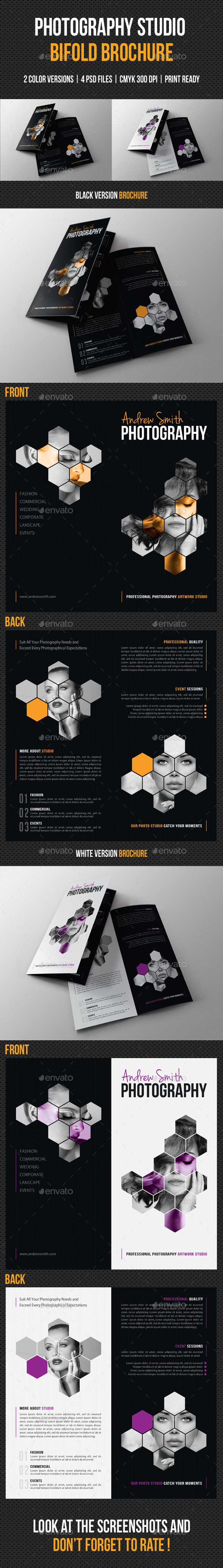 GraphicRiver Photography Studio Bifold Brochure 8914017