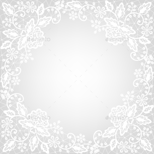 GraphicRiver White Lace on Gray Background 8914018