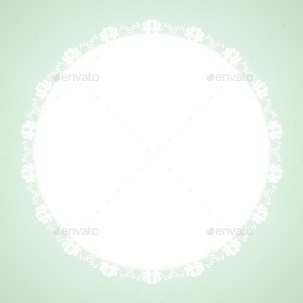 GraphicRiver Lace Doily on Green Background 8914022
