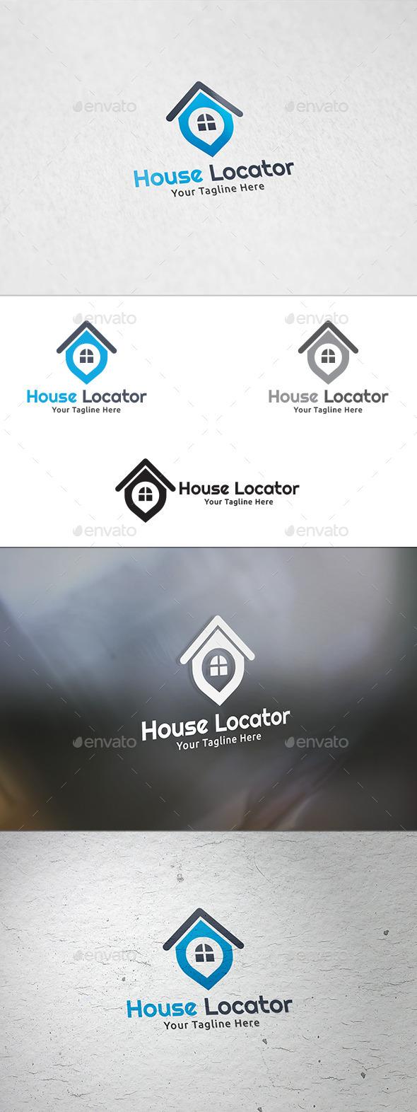GraphicRiver House Locator Logo Template 8914038
