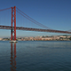 View on the 25 de Abril Bridge in Lisbon 843 - VideoHive Item for Sale