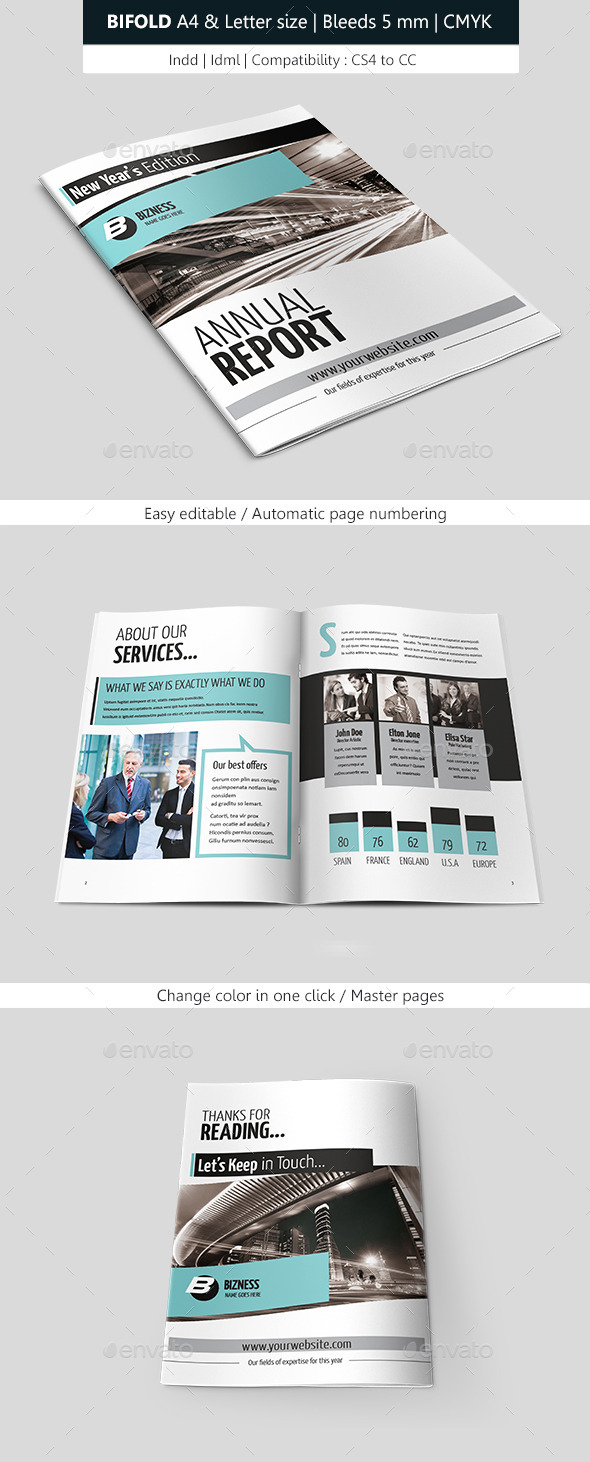 GraphicRiver Indesign Business Brochure Bifold Template 8895730