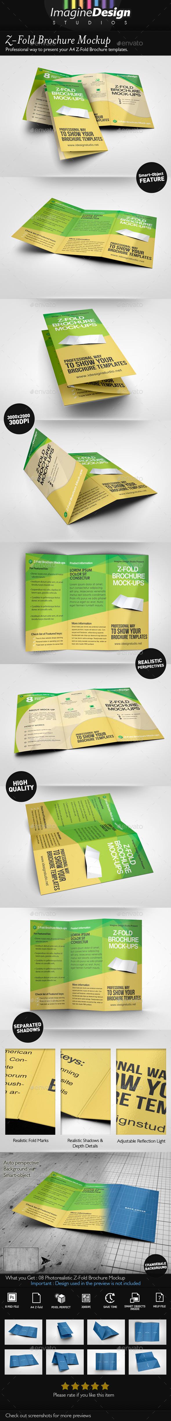 GraphicRiver Z-Fold Brochure Mockup 8914939