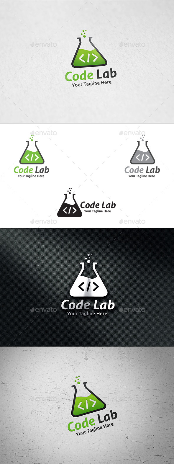 GraphicRiver Code Lab Logo Template 8914950