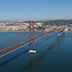 Top View on the 25 de Abril Bridge in Lisbon 848 - VideoHive Item for Sale