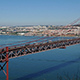 Top View on the 25 de Abril Bridge in Lisbon 849 - VideoHive Item for Sale