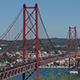 Top View on the 25 de Abril Bridge in Lisbon 850 - VideoHive Item for Sale