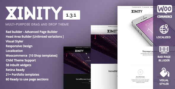 Xinity - Multi-Purpose Drag and Drop Theme - Corporate WordPress
