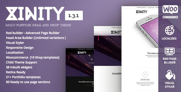 Xinity - Multi-Purpose Drag and Drop Theme - Corporate WordPress