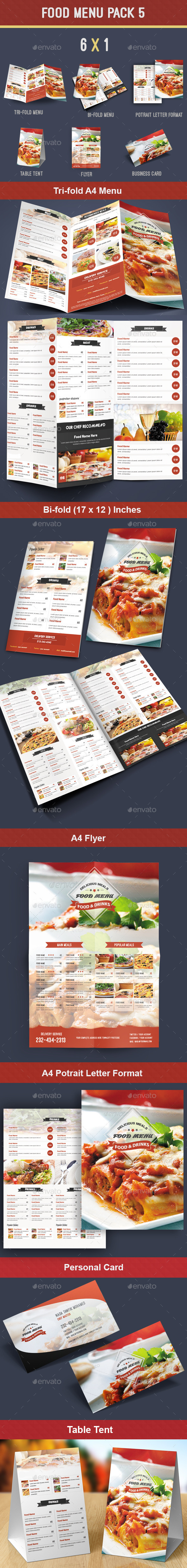 GraphicRiver Food Menu Pack 5 8757718