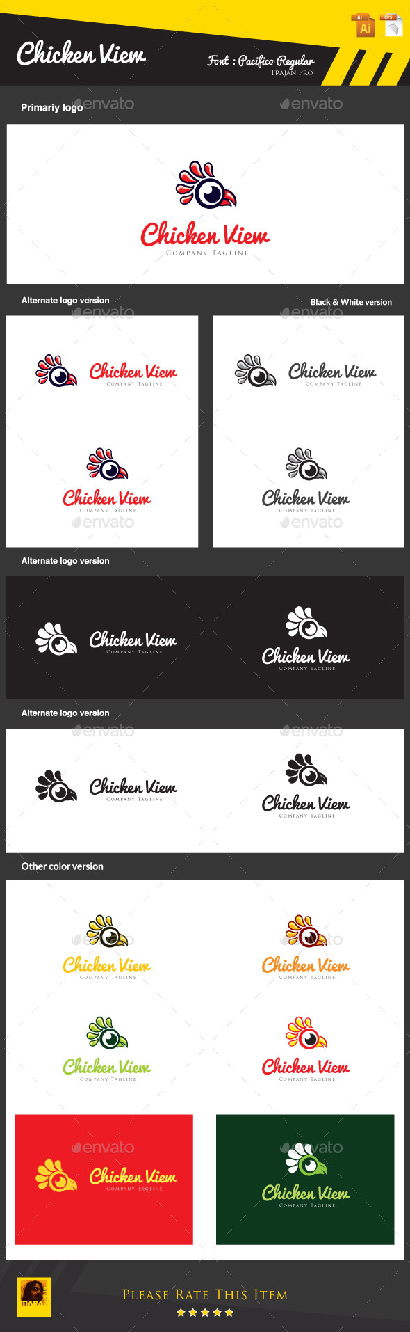 GraphicRiver Chicken View 8915388