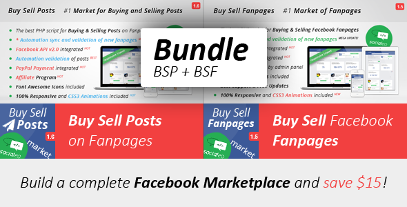CodeCanyon Complete Facebook Market Buy Sell Posts Fanpages 8915467