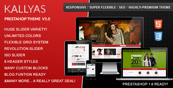ThemeForest Kallyas Fluid Responsive Prestashop Theme 8915563