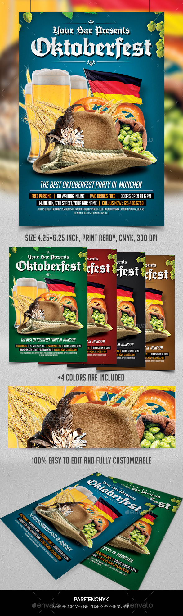 GraphicRiver Oktoberfest Party Flyer Template 8915670