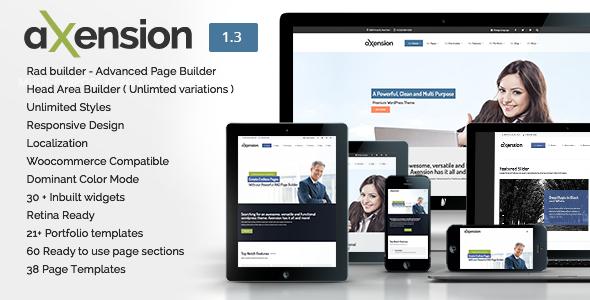Axension - Powerful Multi-Purpose WordPress Theme - Corporate WordPress