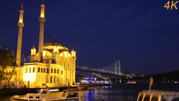 Day To Night Of Mosque And Galata Bridge 1