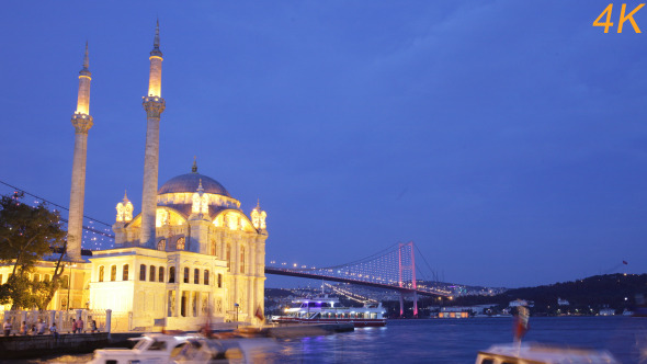Day To Night Of Mosque And Galata Bridge 2
