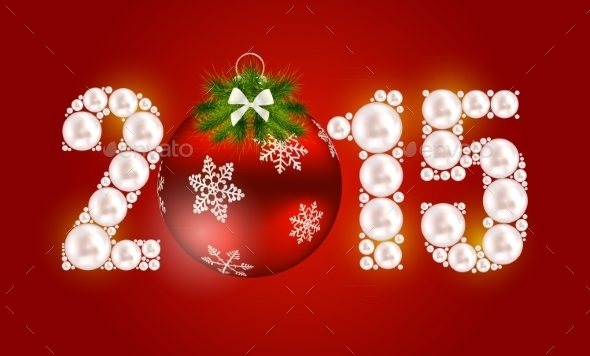 GraphicRiver Abstract Christmas and New Year Background 8915965