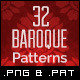 32 Tileables Baroque Backgrounds Textures & Pattern - GraphicRiver Item for Sale
