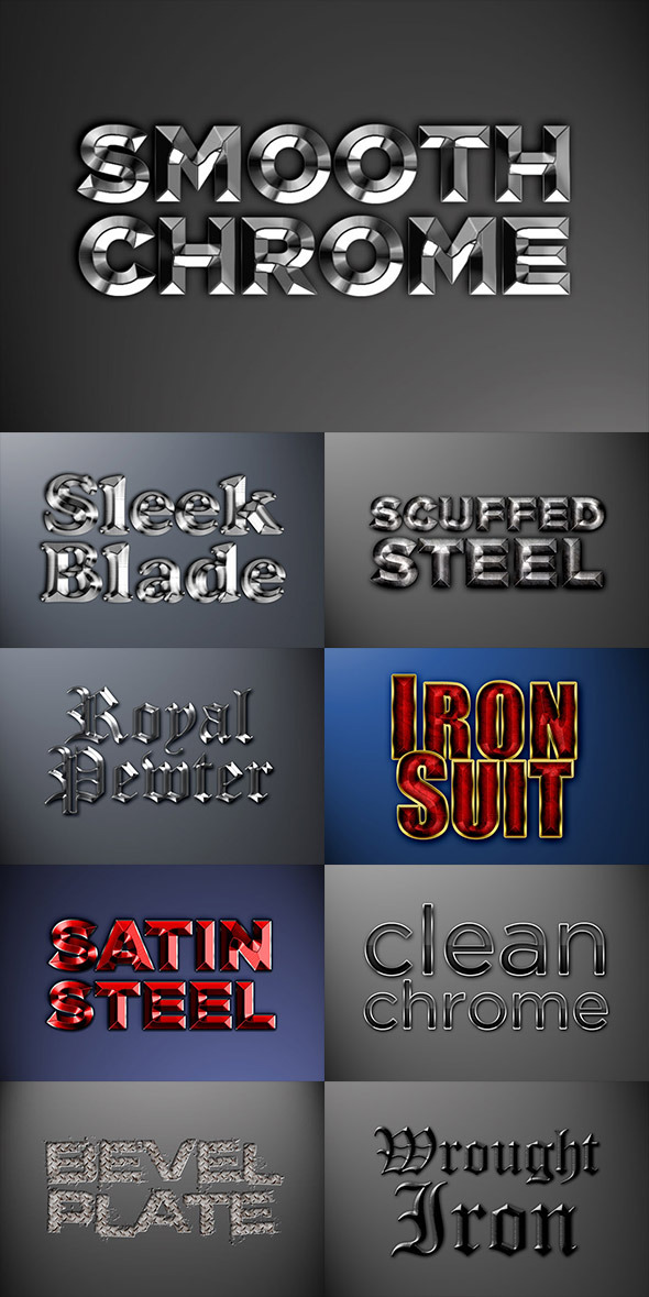 GraphicRiver Metal Photoshop Styles Pack 2 8888351