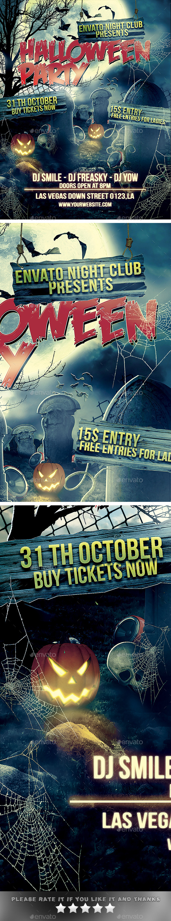 GraphicRiver Halloween Party Flyer 8877233