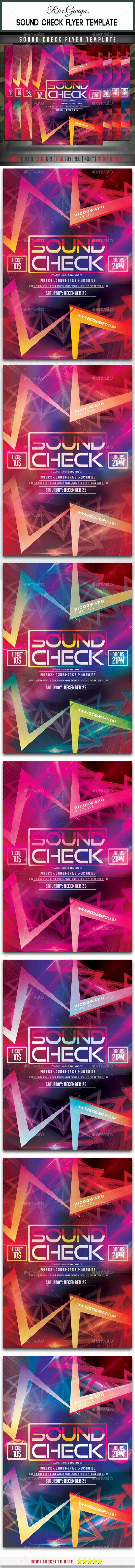 GraphicRiver Sound Check Flyer Template 8916100