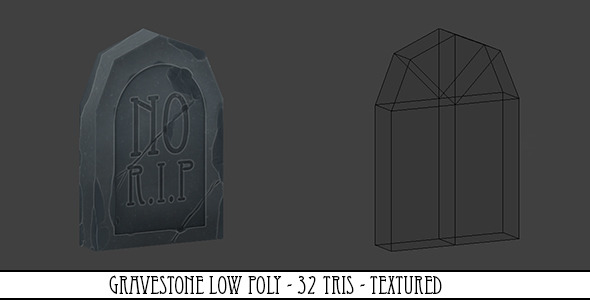Gravestone Low Poly - 3DOcean Item for Sale