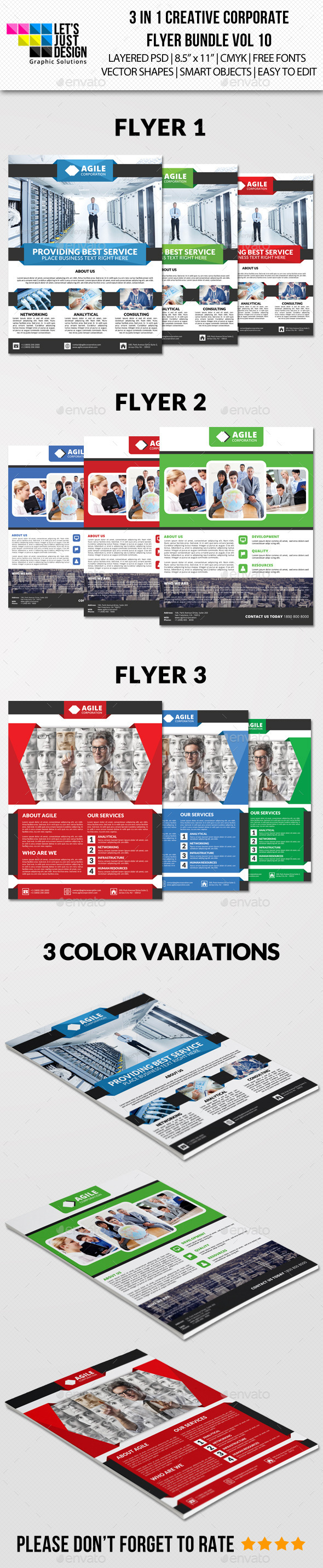 GraphicRiver Creative Corporate Flyer Pack Vol 10 8916125