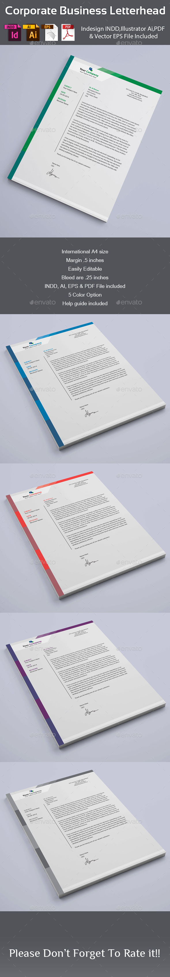 GraphicRiver Corporate Business Letterhead 8899397