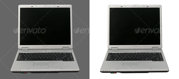 Front View of an Open Laptop Computer