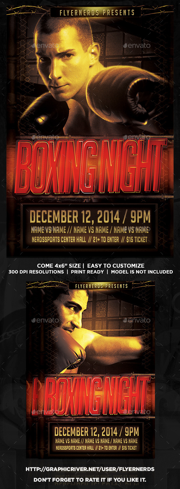 GraphicRiver Boxing Night Flyer 8916145