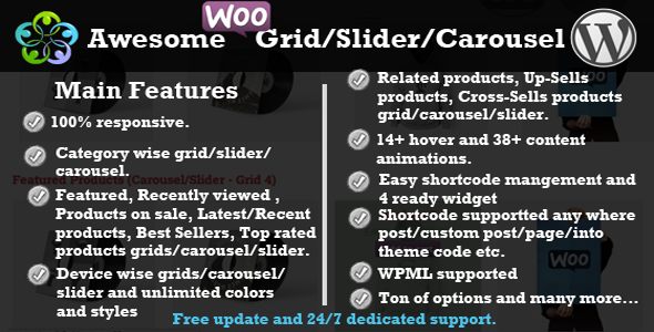 WooCommerce Product Slider Carousel Grid