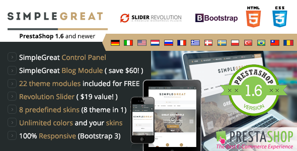 SimpleGreat - Responsive Prestashop 1.6 Theme - Shopping PrestaShop