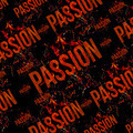 Passion Typographic Grunge Design Pattern  - PhotoDune Item for Sale