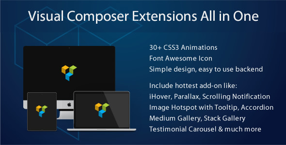 Visual Composer Add-on - Thumbnail with Caption