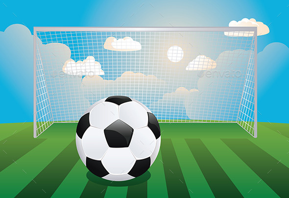 GraphicRiver Soccer Goal with Ball 8916706
