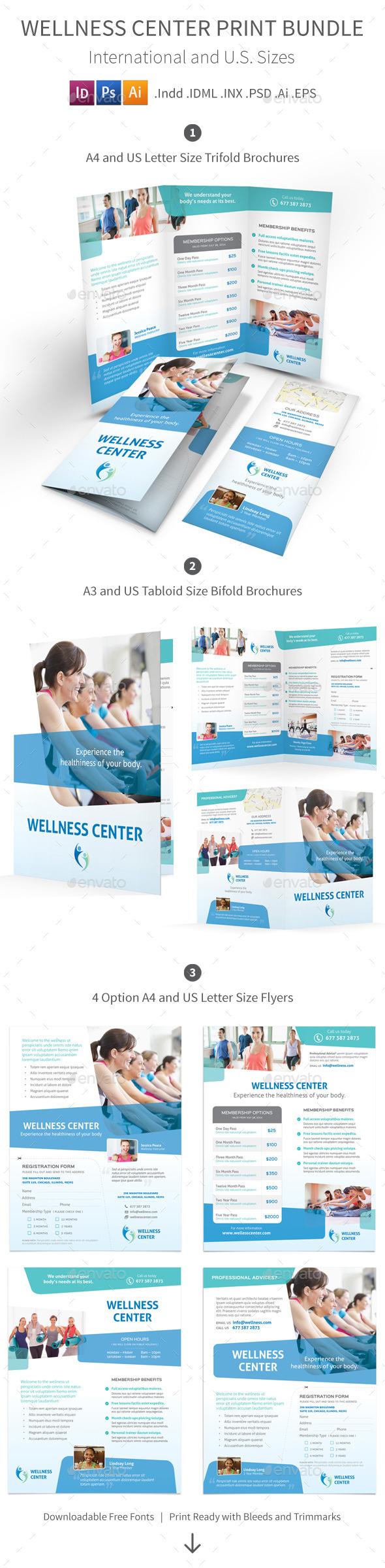 GraphicRiver Wellness Center Print Bundle 8916718