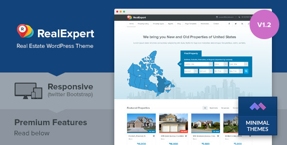 Real Expert - Responsive Real Estate WP Theme - Real Estate WordPress
