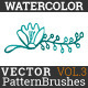 Watercolor Vector Pattern Brushes Vol.3